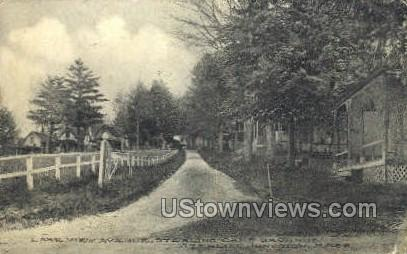Lake View Ave. - Sterling Junction, Massachusetts MA Postcard