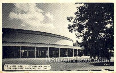 The Music Shed - Stockbridge, Massachusetts MA Postcard