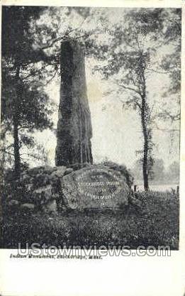 Indian Monument - Stockbridge, Massachusetts MA Postcard