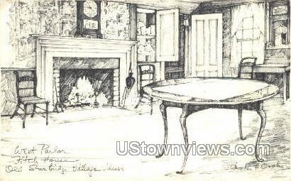 West Parlor, Stephen Fitch House - Sturbridge, Massachusetts MA Postcard