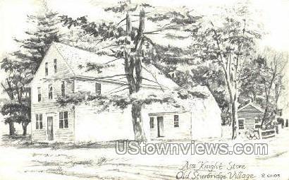 Asa Knight Store - Sturbridge, Massachusetts MA Postcard