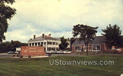 Entrance, Old Sturbridge Village - Massachusetts MA Postcard