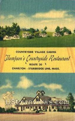 Countryside Village Cabins - Sturbridge, Massachusetts MA Postcard