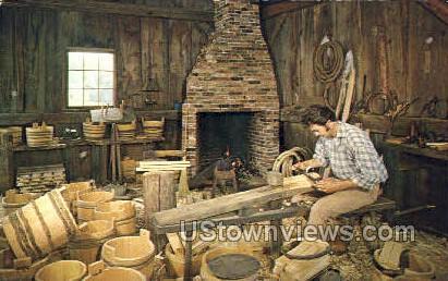 Interior, Nash Cooper Shop - Sturbridge, Massachusetts MA Postcard