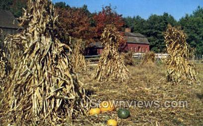 Farm Field, Pliny Freeman Farm - Sturbridge, Massachusetts MA Postcard