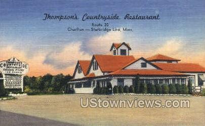 Thompson's Countryside Restaurant - Sturbridge, Massachusetts MA Postcard