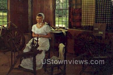 Spinning, Old Sturbridge Village - Massachusetts MA Postcard