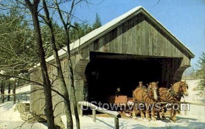 Covered Bridge - Sturbridge, Massachusetts MA Postcard