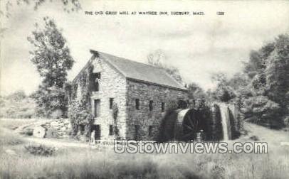 The Old Grist Mill - Sudbury, Massachusetts MA Postcard