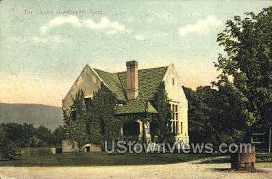 The Library - Sunderland, Massachusetts MA Postcard