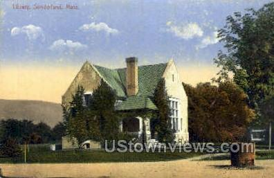Library - Sunderland, Massachusetts MA Postcard