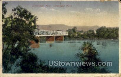 Connecticut River - Sunderland, Massachusetts MA Postcard