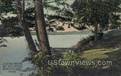 The River - Sunderland, Massachusetts MA Postcard