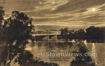 Sunderland Bridge - Massachusetts MA Postcard