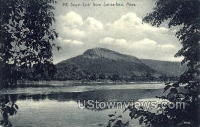 Mt Sugar Loaf - Sunderland, Massachusetts MA Postcard