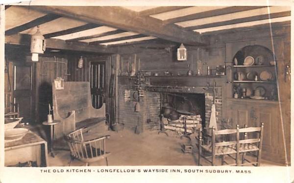 The Old Kitchen South Sudbury, Massachusetts Postcard