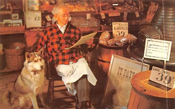 Grandpa Swanson the Famous Propietor South Sudbury, Massachusetts Postcard
