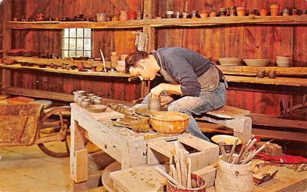 The potter at work Sturbridge, Massachusetts Postcard