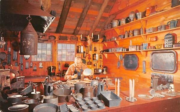 The tinsmith at work Sturbridge, Massachusetts Postcard