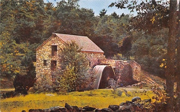 Wayside Inn Grist Mill South Sudbury, Massachusetts Postcard