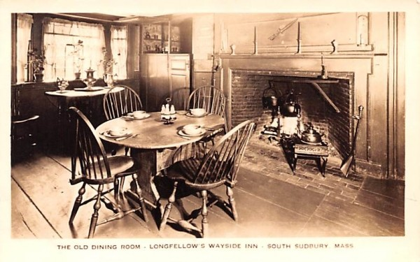 The Old Dining Room South Sudbury, Massachusetts Postcard