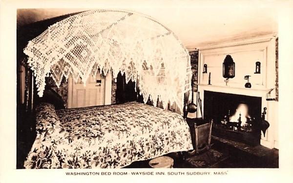 Washington Bed Room South Sudbury, Massachusetts Postcard