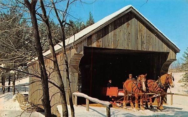 Covered bridge Sturbridge, Massachusetts Postcard