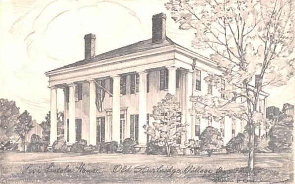Governor Levi Lincoln Sturbridge, Massachusetts Postcard