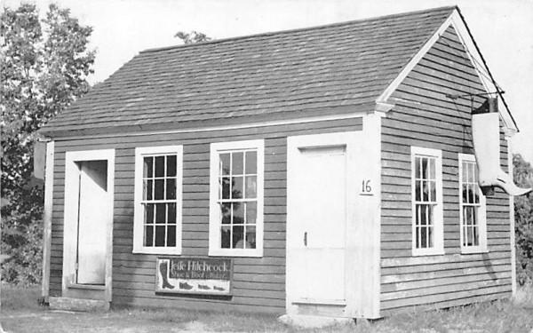 Hitchcock Boot Shop Sturbridge, Massachusetts Postcard
