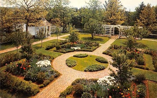 Garden of the Residence Sturbridge, Massachusetts Postcard