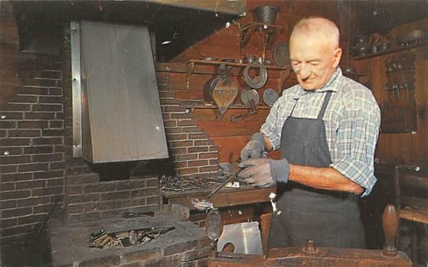 The Pewterer at his forge Sturbridge, Massachusetts Postcard