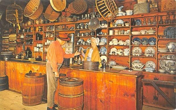Bartering for a pewter mug Sturbridge, Massachusetts Postcard