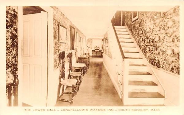 The Lower Hall South Sudbury, Massachusetts Postcard