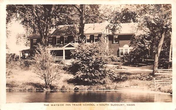 The Wayside Inn Trade School South Sudbury, Massachusetts Postcard
