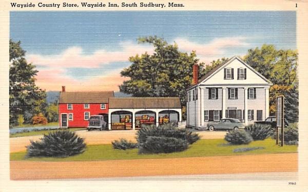 Wayside Country Store South Sudbury, Massachusetts Postcard