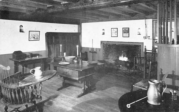 Old Bar Room South Sudbury, Massachusetts Postcard