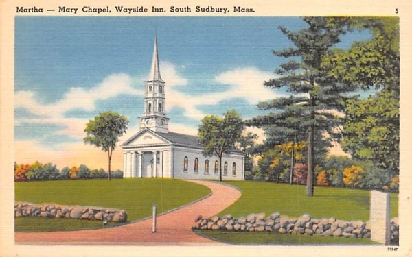 Martha-Mary Chapel South Sudbury, Massachusetts Postcard