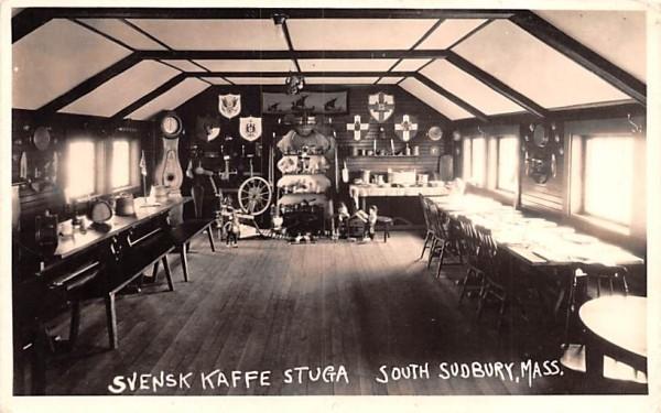 Svensk Kaffe Stuga South Sudbury, Massachusetts Postcard