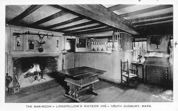 The Bar-Room South Sudbury, Massachusetts Postcard