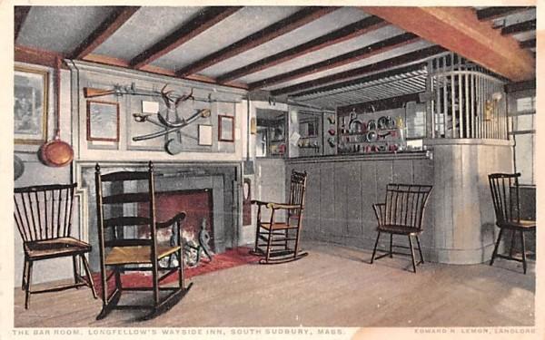 The Bar Room South Sudbury, Massachusetts Postcard