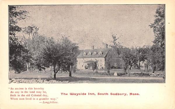 The Wayside Inn South Sudbury, Massachusetts Postcard