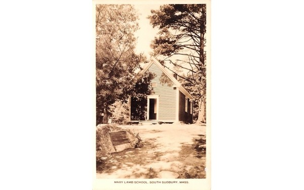 Mary Lamb School South Sudbury, Massachusetts Postcard