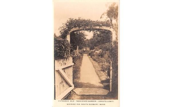 Entrance, Old-Fashioned Garden South Sudbury, Massachusetts Postcard