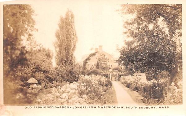 Old Fashioned Garden South Sudbury, Massachusetts Postcard