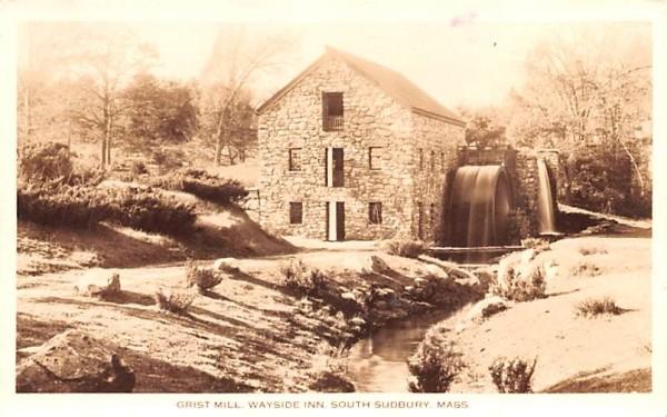Grist Mill South Sudbury, Massachusetts Postcard