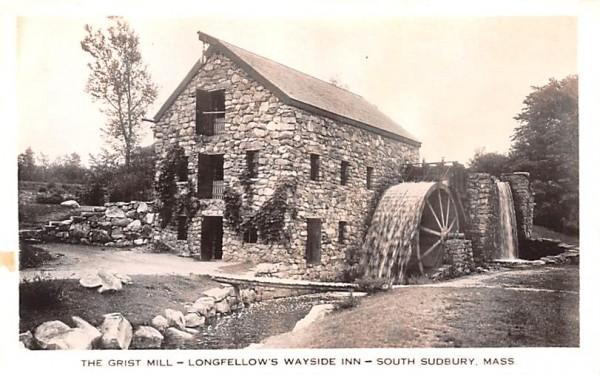 The Grist Mill South Sudbury, Massachusetts Postcard