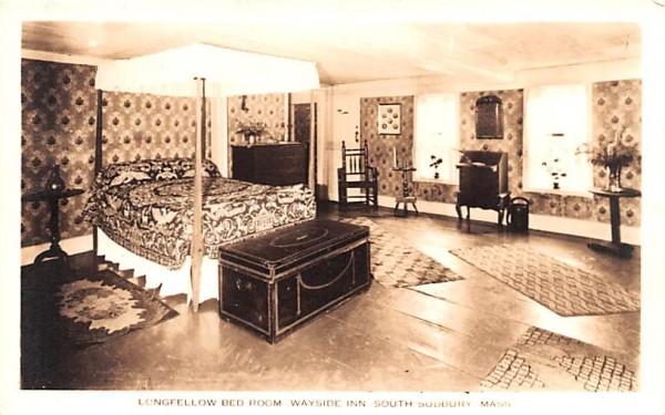 Longfellow Bed Room South Sudbury, Massachusetts Postcard