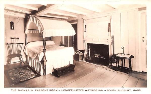 The Thomas W. Parsons Room South Sudbury, Massachusetts Postcard