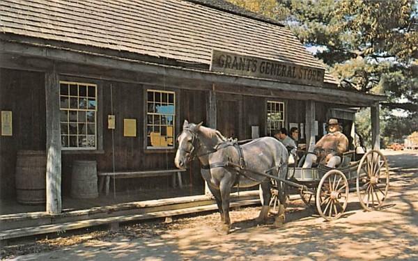 The Entrance to Miner Grant's General Store Sturbridge, Massachusetts Postcard