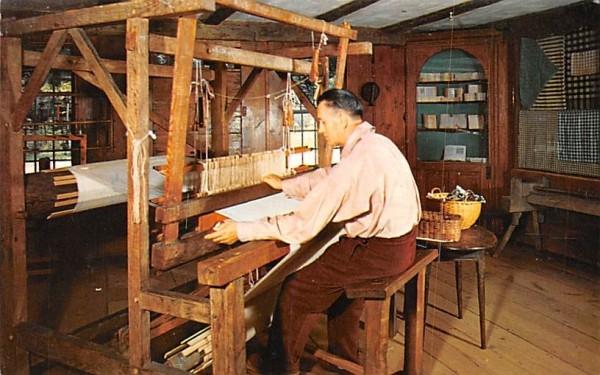 Weaving demonstration Sturbridge, Massachusetts Postcard